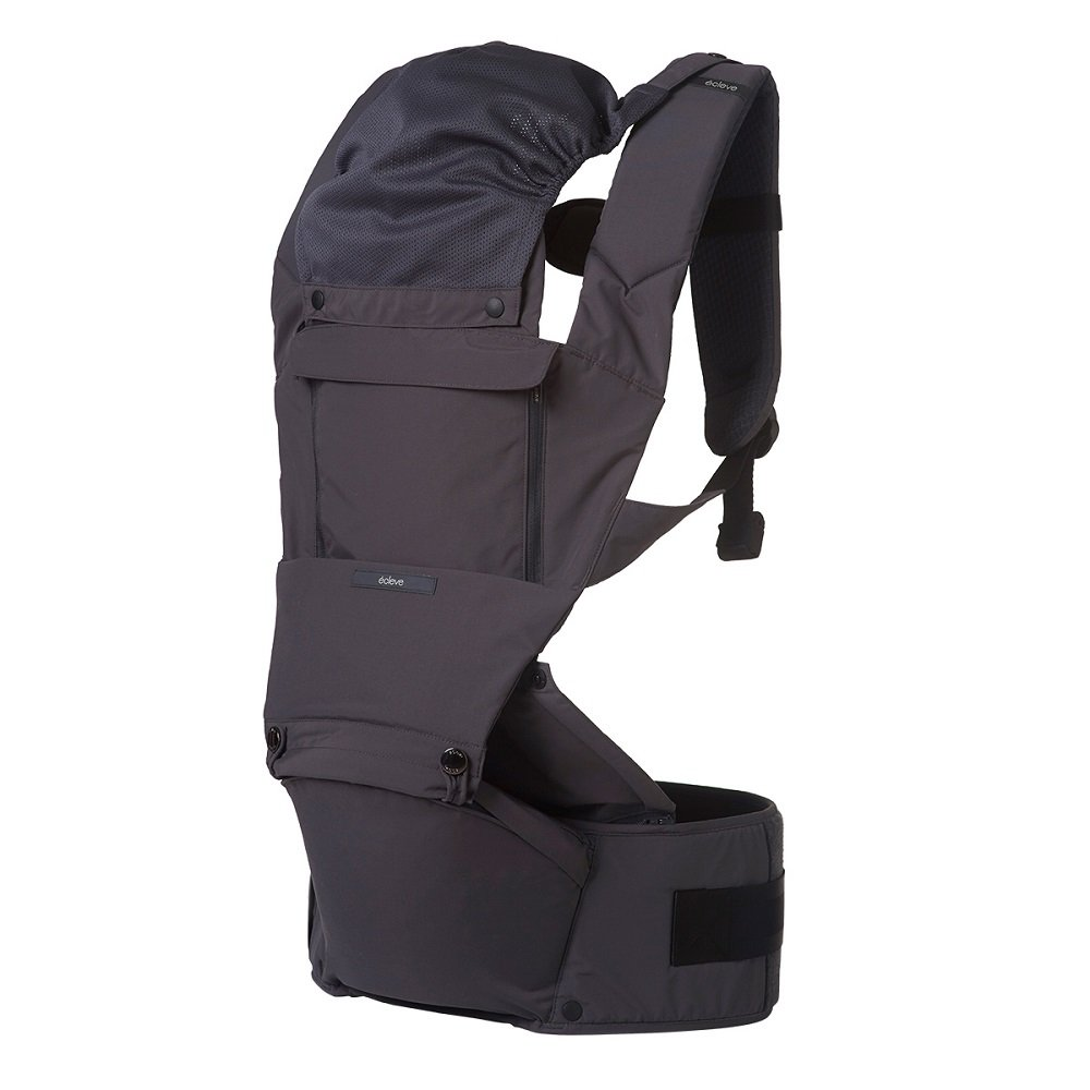 ÉCLEVE Pulse Ultimate Comfort Hip Seat Baby Carrier – Award-Winning 9 Position Front & Back Carry – US Safety Certified Up to 45 lbs (Charcoal Grey) 61SQdSXtFgL._SL1000_
