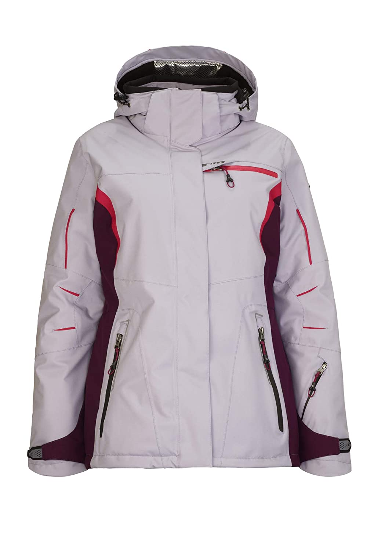 Mallow 36 (EU) Killtec Women's Corinne Ski Functional Jacket with Zip-Off Hood and Snow Catcher