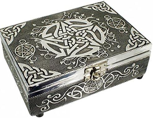 Find Something Different Encontrar Algo Diferente Caja de Puntas de Tarot de Acabado de Plata Repujado Celta de Madera, Multicolor: Amazon.es: Hogar