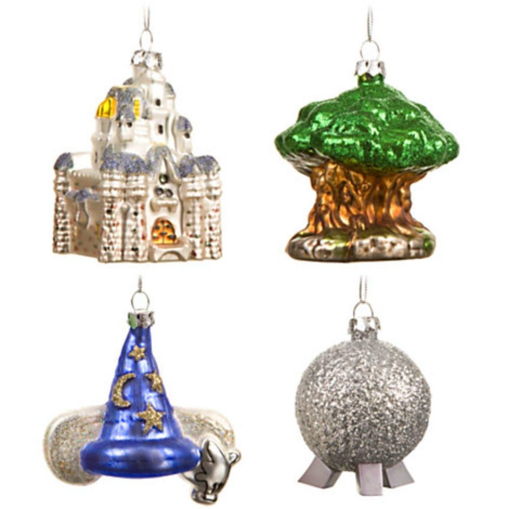 Amazon: Walt Disney World Resort ''four Parks, One World'' Icon 4piece  Ornament Set: Home & Kitchen