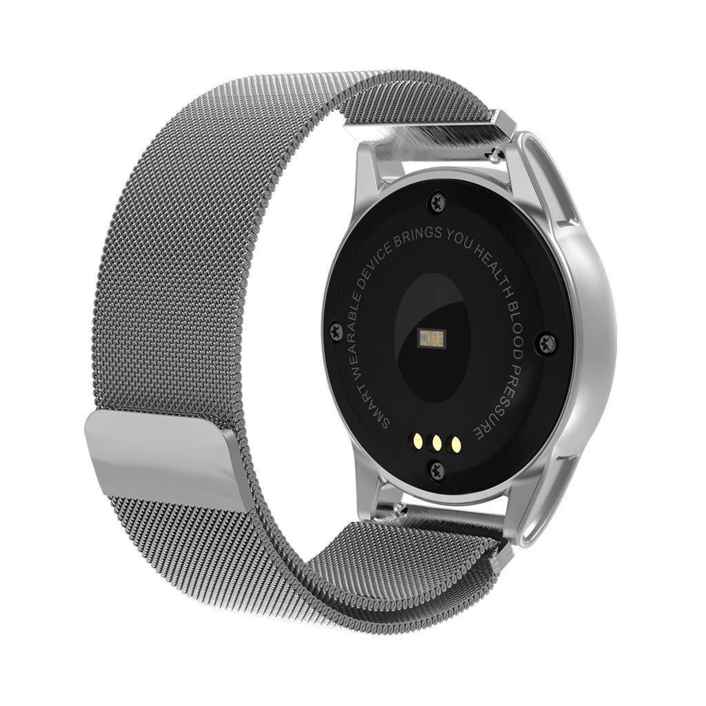 LUXISDE Fitness Bracelet Smartwatch Ladies, Activity Tracker Heart Rate Activity Pedometer Music Control Smart Bracet for Kids Men by LUXISDE (Image #2)