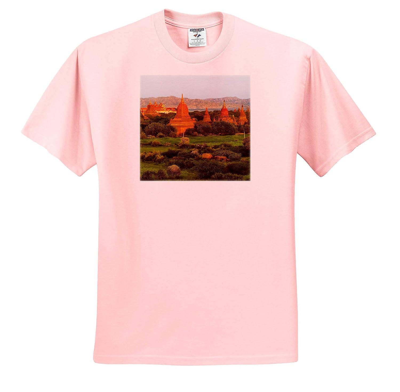 Myanmar 3dRose Danita Delimont Adult T-Shirt XL ts/_312593 Mandalay Bagan Myanmar Temples and pagodas at Sunrise