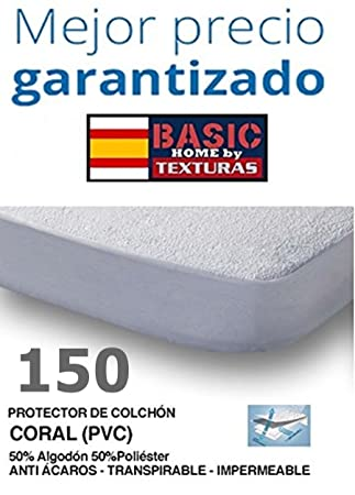 D&D Basic Home Protector de Colchón CORALINA Impermeable y Transpirable 150X190/200+23