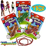 Toysmith Chinese Jump Rope (60'') Gift Set Party Bundle - 3 Pack