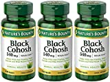 Nature's Bounty Black Cohosh 540 mg, 100 Capsules (3 Bottles)