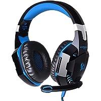 Ikary G2000over-Ear Gaming kulaklık kulaklık rotary hacim Controller ile surround sound, mikrofon stereo Bass için LED ışık PC PS4Gamer IKARY
