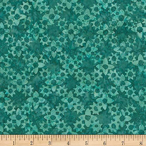 - Timeless Treasures Tonga Batik Spa Day Flower Grove Emerald Fabric by The Yard