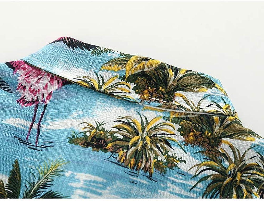 Abolai Boys Short Sleeve One Pocket Dinosaur Pattern Woven Shirt