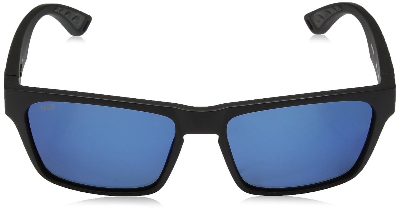 c28cc77ec13 Amazon.com  Costa Del Mar Hinano Polarized Iridium Wayfarer Sunglasses  Blackout 54.1 mm  Clothing