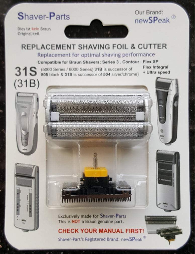 Reemplazo alternativo Braun - Cuchilla de afeitar eléctrica 31S ...