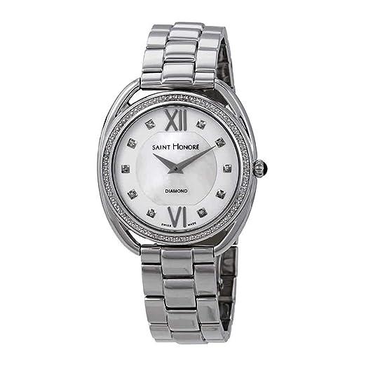 San Honor Charisma Diamante de Plata/Madre de Perla Dial Reloj para Mujer 721123 1YADN: Amazon.es: Relojes
