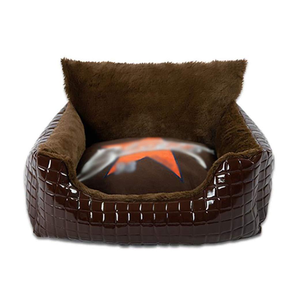 C 504026 C 504026 Pet house kennel Small dog Medium dog Large dog Washable Pet mat Pet nest pet bed Soft comfortable Four seasons available (color   C, Size   50  40  26)
