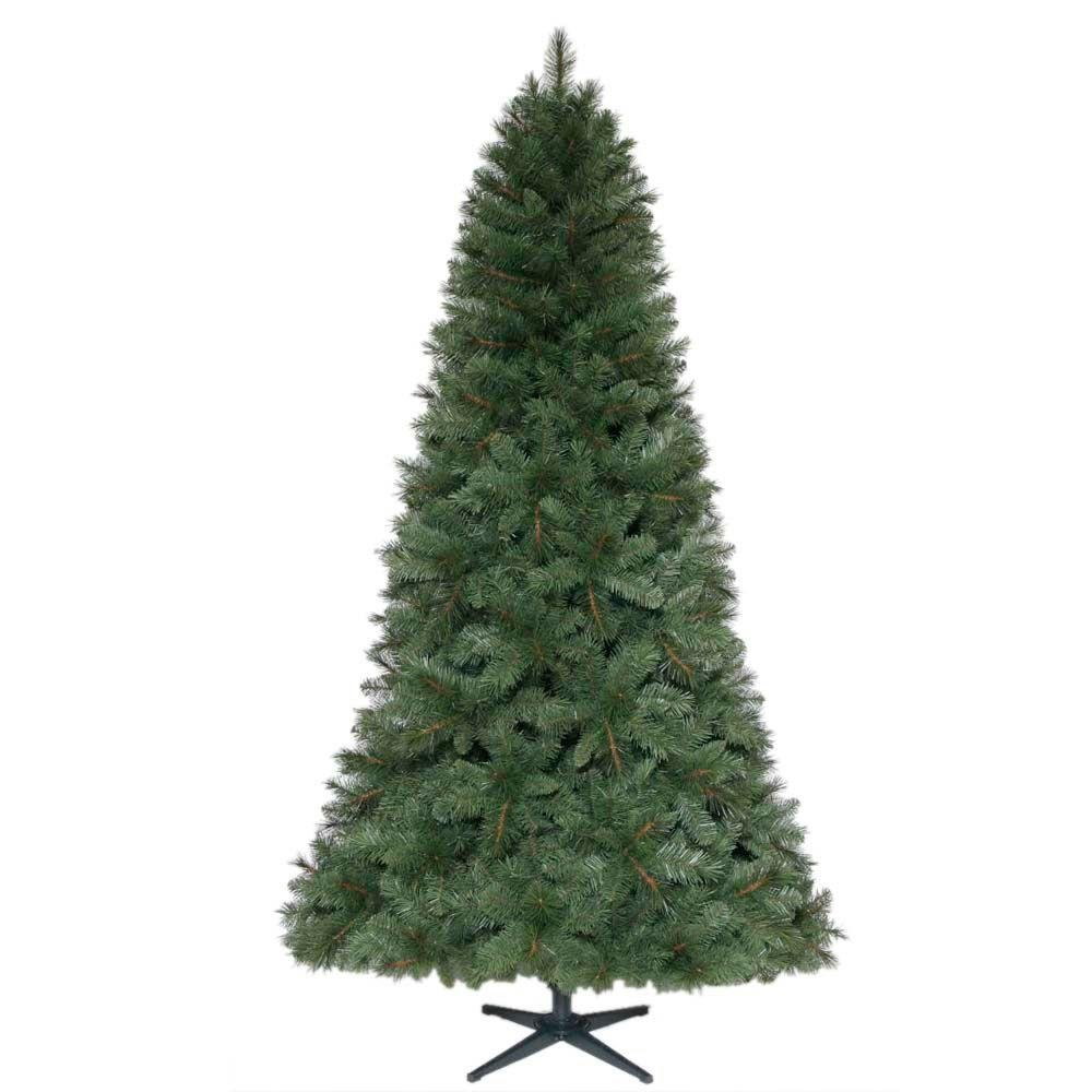Home Accents Holiday 7.5 ft. Unlit Wesley Spruce Artificial Christmas Tree with Hinge Construction