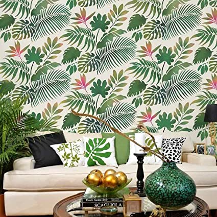 Tropical Dreams Allover Stencil - Reusable Stencils for Walls - DIY Home  Decor - Easy DIY Wall Decor - By Cutting Edge Stencils