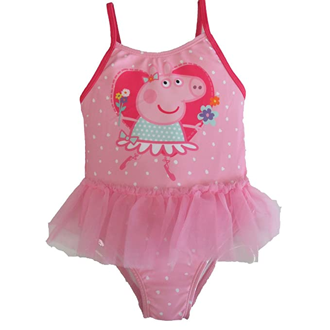 Amazoncom Peppa Pig One Piece Pink Tutu Swimsuit For Little Girls