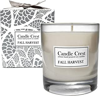 product image for Candle Crest Soy Candles - Fall Harvest 8oz Scented Soy Candle. Made in The USA - Spa Candle Gift Set