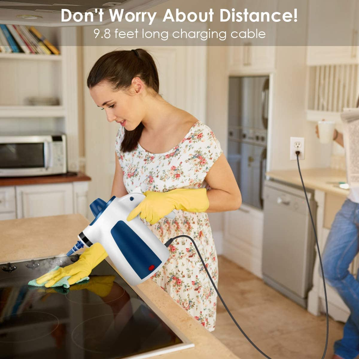 Handheld Multi Purpose Cleaners Carpet High Pressure Chemical Free Steamer with 9-Piece Accessories Grout Cleaner Steam Cleaner Carpet and Upholstery Cleaning//Home//Toilet//Bathroom//Auto//Patio//Car
