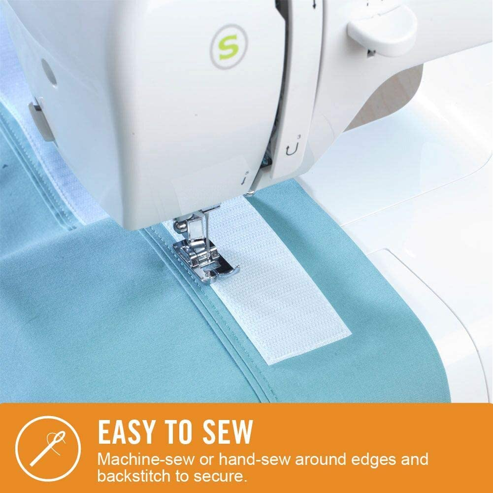 Drapes With Fabric Cut-to-Length Roll Beige VELCRO Brand Sew On Soft and Flexible Tape for Alterations and Hemming Comfort Designed No Ironing or Gluing 30ft x 5//8in