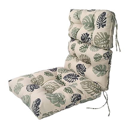 LNC Indoor Seat Cushions Outdoor Lounge Chair Cushions Patio High Back Chair  Cushion Green Leaf