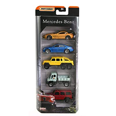 MBX Matchbox Mercedes Benz AMG Limited Edition 5 Pack SLR McLaren, CLS 500, 6x6, Unimog G-Class: Toys & Games