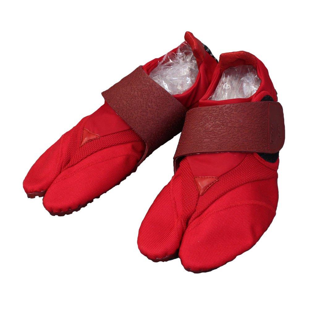 [きもの日和]ランニング足袋『Toe-Bi』(4色) 限りなく素足感覚の高機能シューズ B077CY14JY 27.0 cm レッド