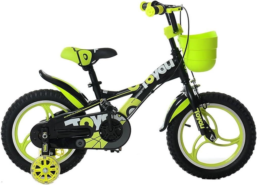 SXZHSM Bicicletas Infantiles For Niños Y Niñas Juguetes For Bebés 2-3-6-8 Manillar De Bicicleta De Montaña Al Aire Libre Y La Altura del Sillín Se Puede Ajustar Y Ruedas De Entrenamiento De