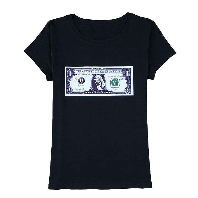 Camisetas Estampadas con Cuello en Pico para Mujer de USD 3D Camisetas Ocasionales de Verano con Estampado de causalidad: Amazon.es: Ropa y accesorios