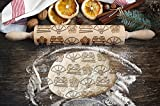 Japanese pattern, engraved rolling pin, for cakes and cookies, kitchen tool, original shape