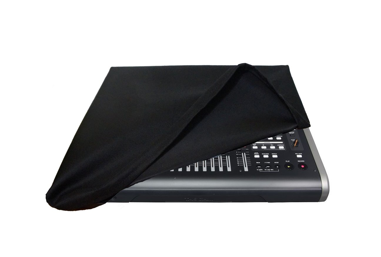 Protective Dust Cover for Tascam DP-24 / DP-32 / DP-32SD Digital Studio [Antistatic  Water Resistant  Premium Black Fabric] by DigitalDeckCovers Dig-0894