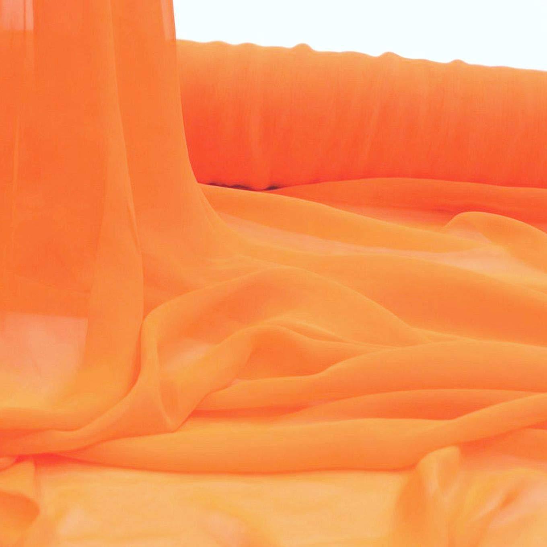Orange Chiffon Dekostoff//Kleiderstoff Meterware am St/ück