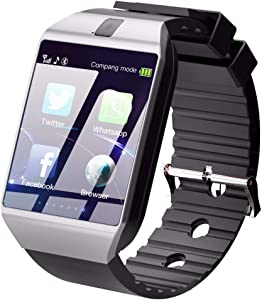 HighTech 2019 Newest Wireless Smart Watch Touchscreen with Camera,Unlocked Watch Phone with Sim Card Slot,Smart Wrist Watch,Smartwatch Phone for Android Samsung, iPhone Men Women Kids