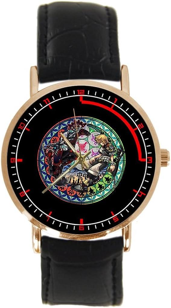 Kingdom Hearts Custom Adult's Watch Black Leather Strap HOT Sport Fashion Wrist Watch