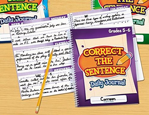 Lakeshore Correct the Sentence Daily Journal Grades 5-6