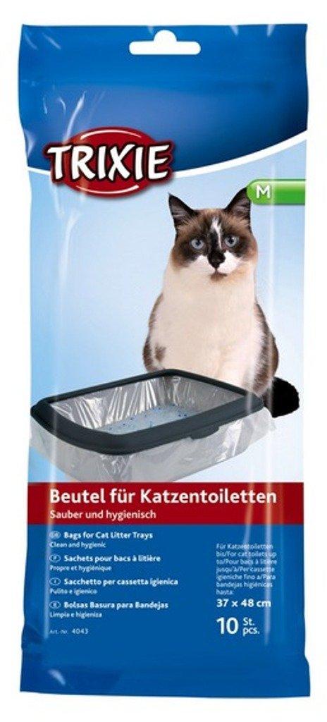 Litière Sac Taille M pour toilettes jusqu'à 37× 48cm, 10pièce