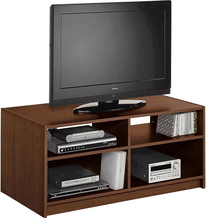 Maine - Mueble modular de entretenimiento para TV, efecto nogal: Amazon.es: Juguetes y juegos
