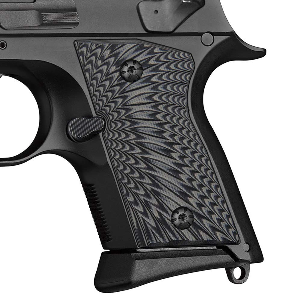 Cool Hand G10 Grips for CZ 2075 RAMI, Sunburst Texture, Grey/Black by Cool Hand