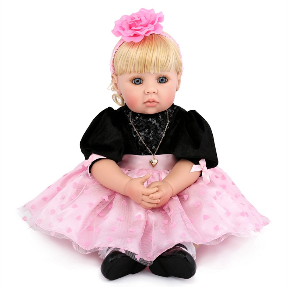 tienda en linea QXMEI Reborn Bebé Simulación Muñeca Lindo Paño Paño Paño Silicona Suave Muñeca Niño Comodidad Durmiendo Jugando Socio Regalo Cumpleaños De 22 Pulgadas  despacho de tienda