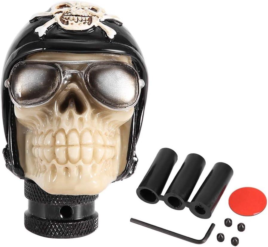 Pomello Leva Del Cambio Delaman Universal Skeleton Head Car Manual Pomello del Cambio Pomello Leva del Cambio Shifter