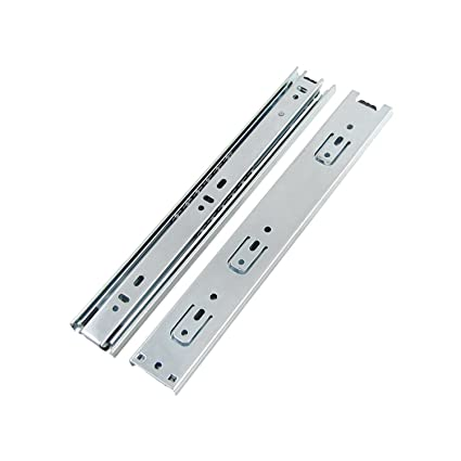 Double Fully Extension Ball Bearing Drawer Slide Runners Heavy Duty