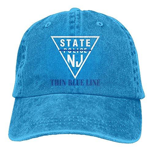 New Jersey State Police Thin Blue Line Cowboy Hats Unisex Baseball Trucker (New Jersey Trucker Hat)