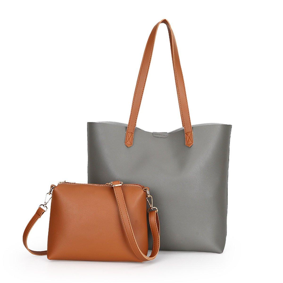 a75374a34f Fashion Women PU Leather Handbag Shoulder Bag Tote Bag Crossbody Bags  Messenger Bag Purse Bags 2 Pcs Set (4 Colors)