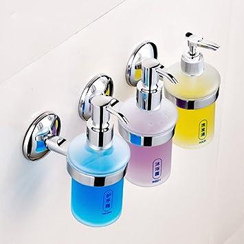 Tres cabezas,Ducha de dispensadores,Inicio Montaje en pared,Dispensador manual del jabón Botella detergente baño Hotel Box de ducha gel Caja del ampoo de-A: ...