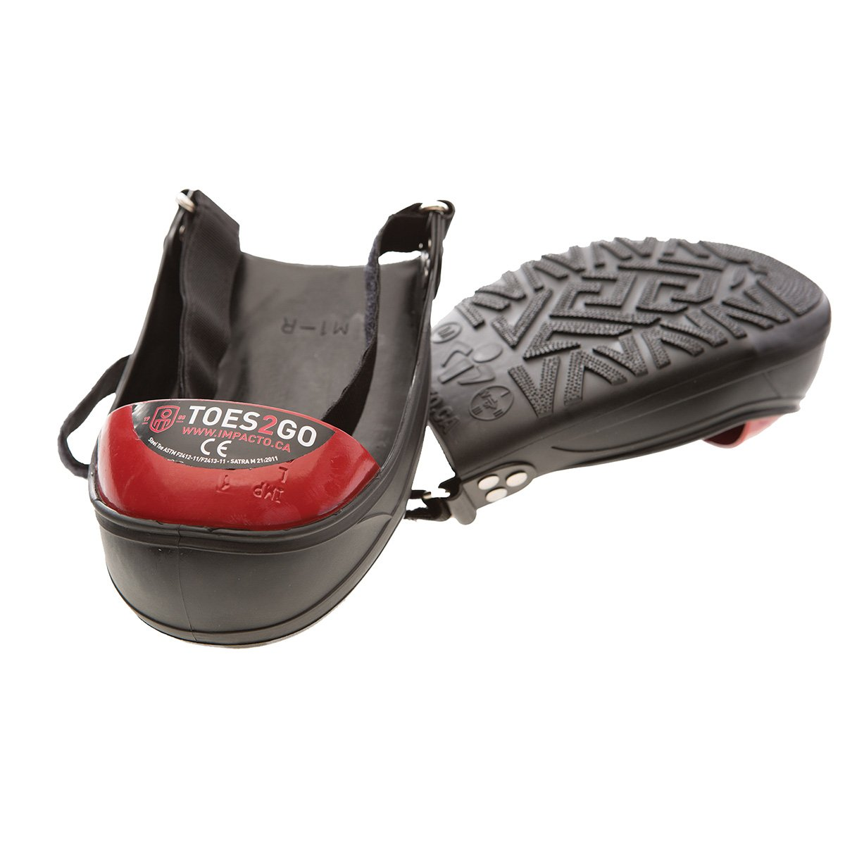 Impacto T2GUM Toes2Go Protective Safety Boot and Shoe Covers, Medium, Red by Impacto