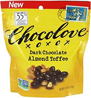 product image for Chocolove XOXOX Dark Chocolate Salted Almonds, 4.5 Ounce