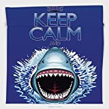 Vipsung Microfiber Ultra Soft Hand Towel-Sea Animals Decor Collection Keep Calm And Shark Jaws Attack Predators Hunter Dangerous Wild For Hotel Spa Beach Pool Bath