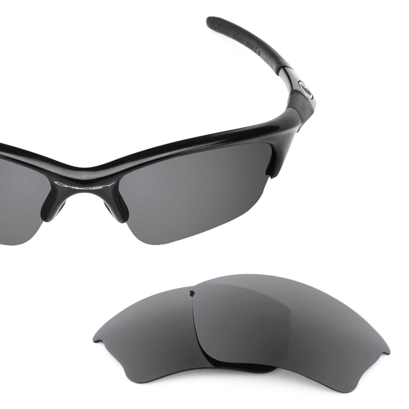 Revant Polarized Replacement Lenses for Oakley Half Jacket XLJ Slate Grey Asian Fit