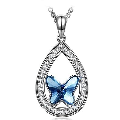 ANGEL NINA Regalos para San Valentin Cazador de Sueños Collar Mujer Plata 925, Cristales de Swarovski, Cada Momento Especial, Estilo Sutil y ...