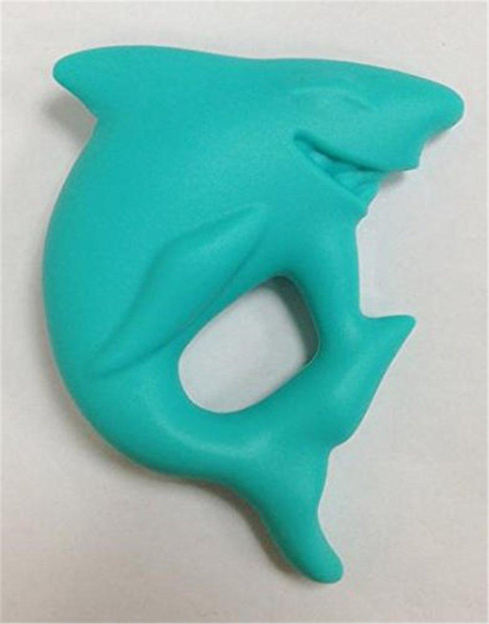 INCHANT Masticable de silicona tibur/ón colgante Juguete de Dentici/ón para que la mam/á vestir BPA libre colgante de mordedor Anti bacetriana Collar Mordedor de Lactancia para Beb/é
