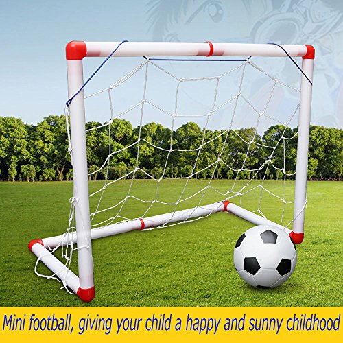 World Cup Summer Mini Football Children's Football Box Nursery Home Indoor Outdoor Small Football Mini Portable Collapsible Football Net by SOWOFA
