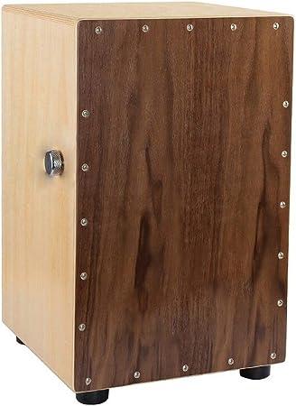 XIAOLULU Tambor de Caja de percusión cajón Caja de Madera de Nogal Box Cajon Tambor Interno Ajustable Snares Percusión con Funda for niños y Adultos (Color : Wood, tamaño : Un tamaño):